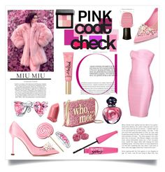 """Coated In Pink! #pastelcoloursforwinter"" by shaheenk ❤ liked on Polyvore featuring Miu Miu, Kate Spade, Bling Jewelry, Bobbi Brown Cosmetics, Christian Dior, Deborah Lippmann, miumiu, fauxfur and pinkcoats"
