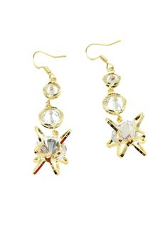 Irregular crystal earrings