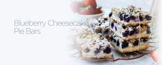 Learn how to make this Blueberry Cheesecake Pie Bar recipe by Dairyland