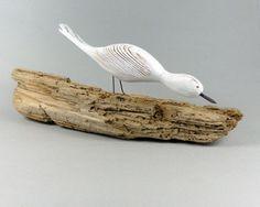 Little White Bird on Natural Sea Washed british by CoastinHome