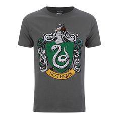 Harry Potter Men's Slytherin Shield T Shirt Grey #HarryPotter #Slytherin #tshirt #fanstuff