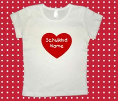 Bügelbild ♥ Herz  Schulkind + Name