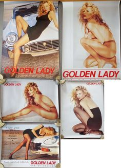 COLLECTOR - Lot 5 posters KIM BASINGER GOLDEN LADY - Officiels 2 posters 70 x 100cm 3 posters 45 x 60 cm.