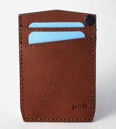 Vertical Double Pocket Leather Card Wallet by POLT available at Withal now. The place to get inspired goods by local makers. Leather Card Wallet, Card Holder, Mens Fashion, Handmade, Gifts, Men's Accessories, Glove, Wallets, Gift Ideas