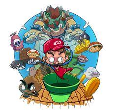 Super Mario illustration on Behance