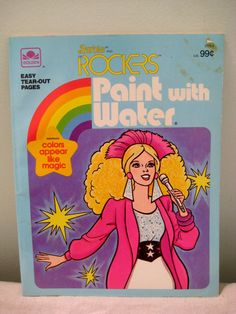 Vintage Barbie And The Rockers Paint With Water.