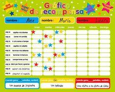 Magnetic Reward / Star / Responsibility / Behavior Chart for up to 3 Children. Rigid board x x with hanging loop Education Positive, Kids Education, Behaviour Chart, Behavior, Supernanny, Chore Chart Kids, Chore Charts, Charts For Kids, Childhood Education