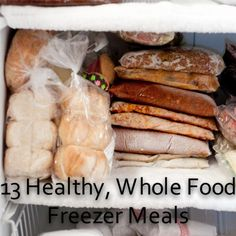 13 Healthy, Whole Food Freezer Meals - Foods of Our Lives.chkn/wild rice-loved it! cant add crm soup too Slow Cooker Freezer Meals, Make Ahead Freezer Meals, Freezer Cooking, Slow Cooker Recipes, Crockpot Recipes, Easy Meals, Cooking Recipes, Freezer Recipes, Bulk Cooking