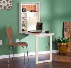Harper Blvd Murphy Winter Antique White Fold-out Convertible Desk by Harper Blvd. I could add this into the spare bedroom just in case a guest might need a desk. Office Furniture Stores, Furniture Deals, Furniture Outlet, Online Furniture, Murphy Desk, Murphy Table, Fold Out Desk, Fold Away Desk, Deco Studio