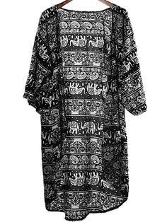 Kimono mit Paisley-Muster-schwarz 12.63