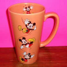 Mickey Mouse Disney Mug Coffee Cup Tall Heavy Large must be mine Mickey Mouse Classroom, Mickey Mouse Mug, Mickey Mouse Kitchen, Disney Kitchen, Tall Coffee Mugs, Disney Coffee Mugs, I Love Coffee, Coffee Cups, Café Chocolate