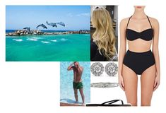 """""""Swimming with dolphins at Dolphin Cove Montego Bay"""" by alexandraofwales ❤ liked on Polyvore featuring Blue Nile, Zimmermann and Gap"""