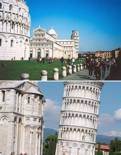 Tower of Pisa,Italy.183 feet tall,was built on a 9-foot-deep foundation,it began sinking  immediately as construction began in 1173, progressing beyond the second floor by 1178.Stabilization efforts have continued over the centuries, and was declared fully stable in May 2008 after removing the bells, cinching the tower with cables and removing earth under the raised side. Engineers say it has stopped moving for the first time in history, and that it will remain standing for at least 200…