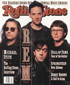 R.E.M. about 20 years ago and I remember buying this Rolling Stone issue.  I guess I'm getting a bit older too ;)