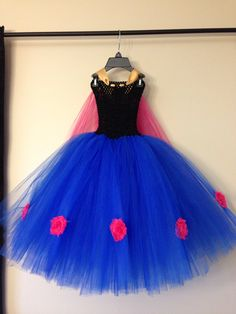 Princess Anna inspired dress with cape and by LittledreamsbyMayra