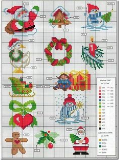 Схеми Новорічної вишивки хрестиком