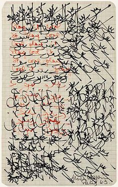 an example of asemic writing (writing with no semantic meaning)