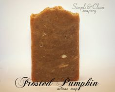 Frosted Pumpkin Handmade Soap oz by SimpleandCleanSoap on Etsy Handmade Soaps, Cocoa Butter, Heavenly, Frost, Artisan, Pumpkin, Simple, Birthday, Awesome