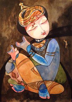 New forever series. Krishna Love, Krishna Art, Krishna Images, Krishna Leela, Lord Krishna, Shiva, Indian Gods, Indian Art, Drawing Sketches