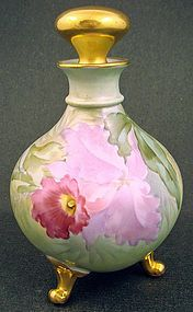 Antique GDA Limoges Orchid Perfume Bottle by Paul Putzk produced in France by Gerard Dufraisseix & abbot Limoges around 1900