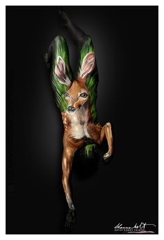 KEY DEER FAWN - Shannon Holt | Body Painting Prints