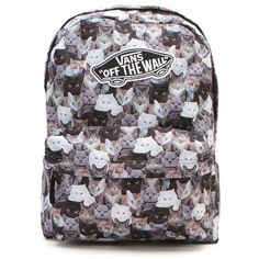Vans X ASPCA Backpack (140 BRL) ❤ liked on Polyvore featuring bags, backpacks, multi, zipper pouch bag, print backpacks, zipper pouch, animal pouch and animal bag