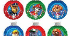 Paw Patrol Free Printable Christmas Ornaments.