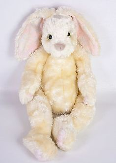 "Ty Classic Flopster Bunny Rabbit 16"" Plush Cream Stuffed Animal 2001 Easter"