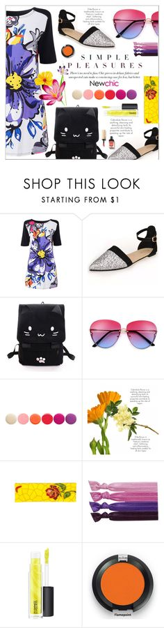 """""""Simple pleasures with Newchic"""" by yoa316 ❤ liked on Polyvore featuring Deborah Lippmann and MAC Cosmetics"""