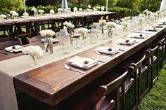 Rustikale Hochzeit Tischdekoration Ideen 2014 2015 mit Glas Jute linen und hydrangea Rustikale Hochzeit Tischdekoration Ideen 2014 2015