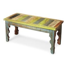 Butler Rao Painted Wood Bench