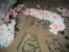 "How to decorate letters with flowers | I want to spell out ""OLIVIA"" in her room :-)"