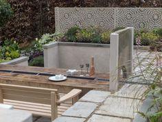 Pip probert garden design at ascot garden show Ascot, Garden Privacy Screen, Privacy Screens, Privacy Landscaping, Garden Landscaping, Zen Garden Design, Diy Garden Projects, Garden Ideas, Patio Planters