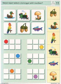 visuele discriminatie voor kleuters / preschool visual discrimination 4th Grade Math Worksheets, Kindergarten Math Games, Preschool Math, Bee Activities, Montessori Activities, Visual Perception Activities, Kids Learning Toys, First Grade Math, Thinking Skills