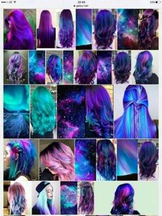 26 Incredible Purple Hair Color Ideas Trending in 2019 - Style My Hairs Cute Hair Colors, Pretty Hair Color, Beautiful Hair Color, Hair Color Purple, Hair Dye Colors, Dark Blue Hair Dye, Ombre Tumblr, Galaxy Hair Color, Rides Front
