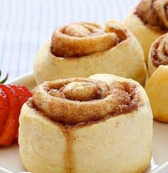 135-calorie cinnamon rolls from Hungry Girl.  These don't taste like diet anything!  So good!! Tiny but good :-)