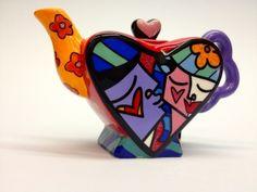 Teapot mini heart purple kiss