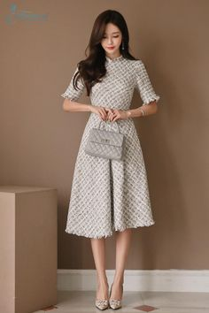 Classy Outfits For Women, Stylish Work Outfits, Stylish Dress Designs, Modest Outfits, Clothes For Women, Elegant Outfit, Classy Dress, Korean Fashion Dress, Fashion Dresses