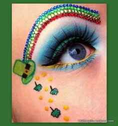 Happy St. Patrick's Day! ~ good lord!! That brow had to have taken forever!!! amazing!!