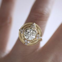 Erika Winters Designs Thea Halo Engagement Ring