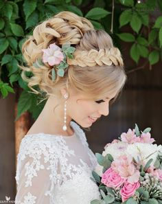 250 Bridal Wedding Hairstyles for Long Hair That Will Inspire Elegant wedding updo from Websalon Wed Romantic Hairstyles, Wedding Hairstyles For Long Hair, Wedding Hair And Makeup, Formal Hairstyles, Bride Hairstyles, Bridal Hair, Hairstyles 2018, Hairstyle Wedding, Beautiful Hairstyles