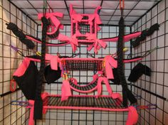 15 pc MESH Sugar Glider Cage Set  Rat  Hot Pink by Cagesets, $36.49