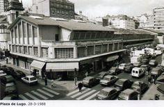 Plaza Lugo en 1988. A Coruña. Galicia. Spain.