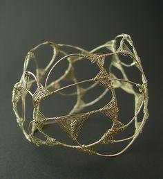 Bracelet made of oxidized sterling silver by Lena Franolić