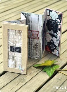 love that frame-cover - - - Le Mini Album « Sous-Bois Album Photo Scrapbooking, Mini Albums Scrapbook, Mini Albums Photo, Mini Album Scrap, Art Carte, Album Design, Mix Media, Handmade Books, Book Making