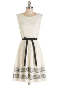Brilliant Buttercream Dress. While your expertise is in cake decorating, youre also style savvy - as evidenced by your sporting this floral lace frock! #white #prom #wedding #bride #modcloth