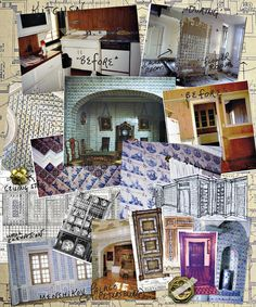 Howard Slatkin's inspiration board for his NY kitchen, from FIFTH AVENUE STYLE.