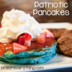 Patriotic Pancakes    #breakfast #recipes