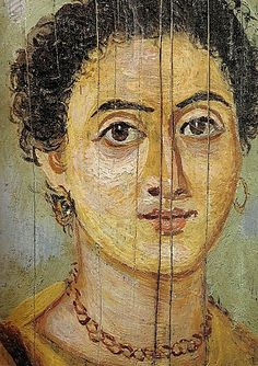 A Roman wax painting from a mummy's tomb in Egypt, possibly Al-Fayyum, Hawara, Er-Rubayat, Saqqara or Memphis.