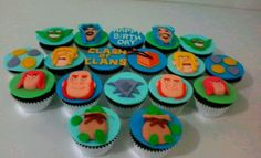 clash of clans theme cupcakes 10th Birthday, Birthday Parties, Birthday Cakes, Themed Cupcakes, Clash Of Clans, Cupcake Cookies, Party Time, Birthdays, Sweets